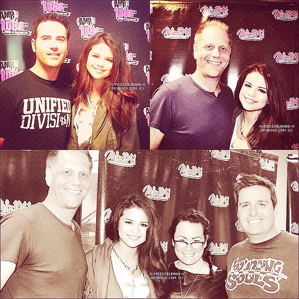 + May 10th  ;   Selena aux radios «Fun 107 FM», «Mix 104.1» & «Kiss 108». +