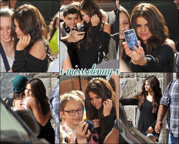 + July 9th  ;   Selena s'est rendue au lancement de sa collection Adidas Neo.  +