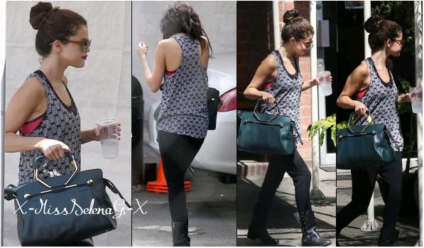 + July 12th  ; Selena arrivant à un cours de danse. + Découvrez également la réaction Selena suite au décès de Cory Monteith. +