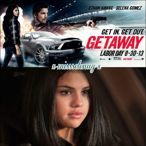 """+ July 21st  ; Selena quittant un studio à Burbank. + Découvrez dès maintenant de nouveaux stills et posters pour """"The Getaway"""" + vidéos. +"""