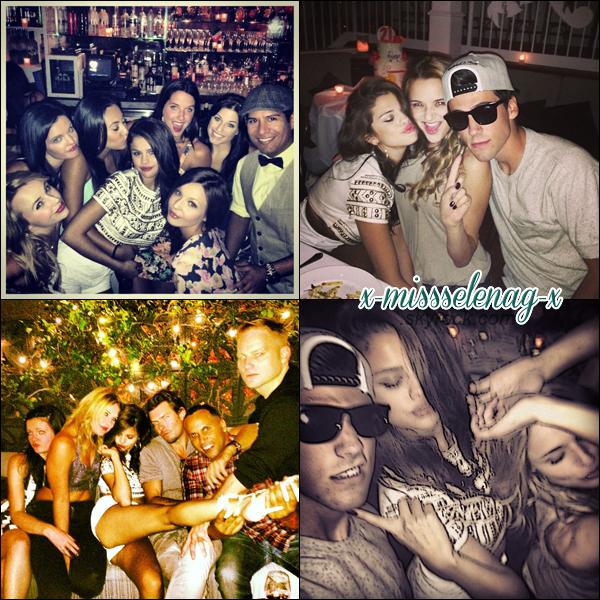 + July 22nd  ; Sel arrive chez elle a Los Angeles et le soir fêtant son anniversaire. + Photos personnelles de Selena. +