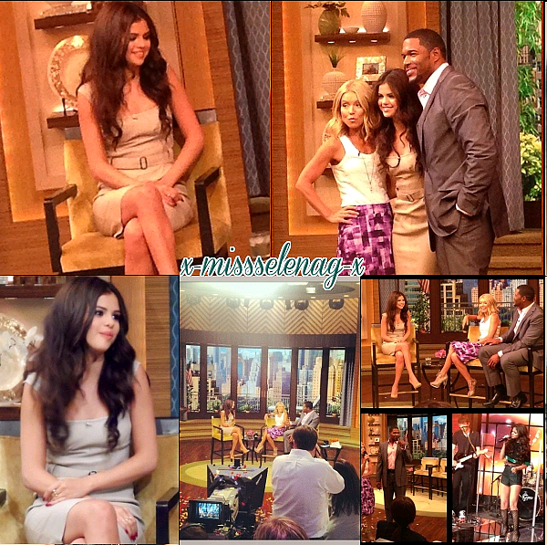 + July 25th  ; Sel au iHeart Radio Summer Concert Series puis au «Kelly & Michael Show». +