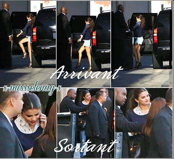 + August 1st  ; Selena à Los Angeles puis à la cérémonie des Young Hollywood Awards 2013. Enfin, elle est allée à l'émission de Jimmy Kimmel. +