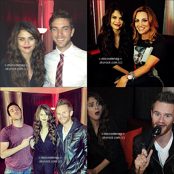 + October 16th  ;   Selena à la radio «SiriusXM» et le soir elle a donné un concert à Brooklyn (NY). +