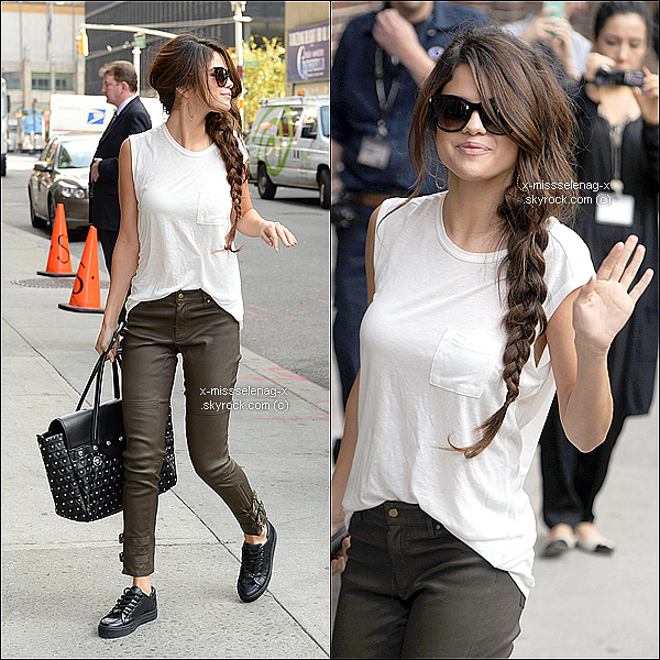 + October 17th  ;   Selena a été à 'The View' et ensuite à 'The Late Show with David Latterman'. +