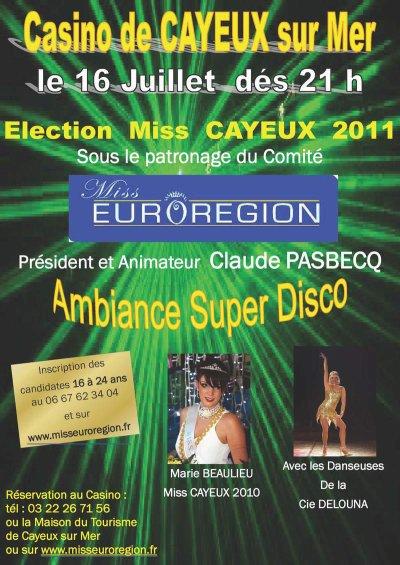 Miss Cayeux le samedi 16 Juillet dès 21h00 au Casino