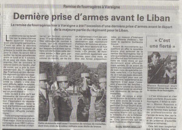 FORCES FRANÇAISES AU LIBAN 1982-1984