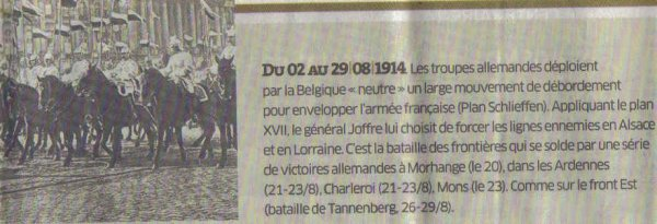 DECLARATION  DE  GUERRE  1914/1918