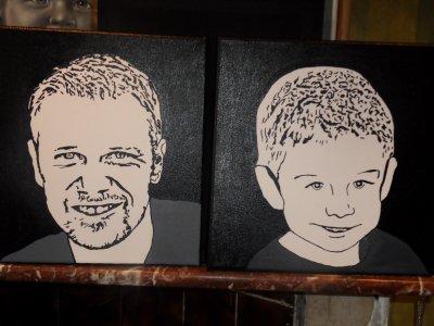 portrait de mon homme et de mon fils