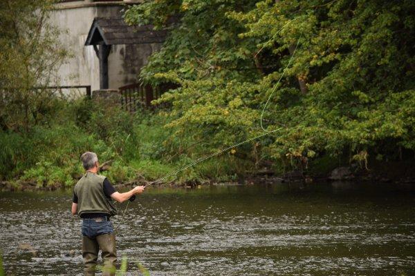 Un pêcheur à la mouche (la Roche en Ardenne)