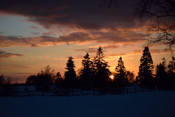 Jolis coucher de soleil. Belle couleur...