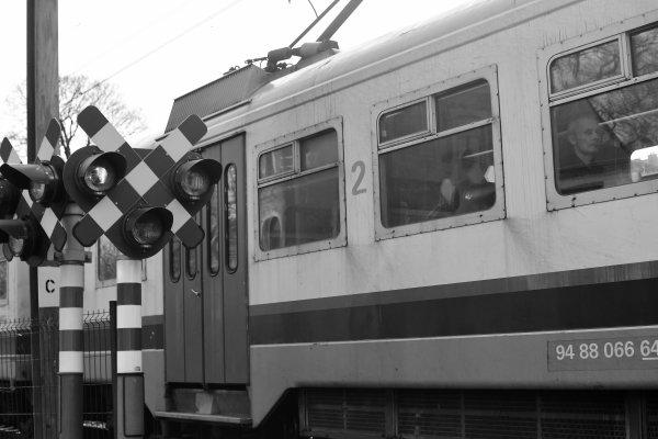 Le train qui passe.
