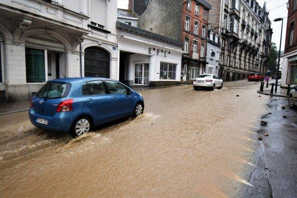 Encore une inondations dans la ville de Spa.