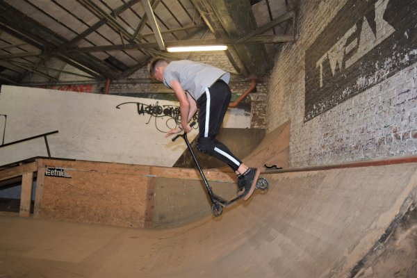 Skatepark de Liège. (Trotinette)