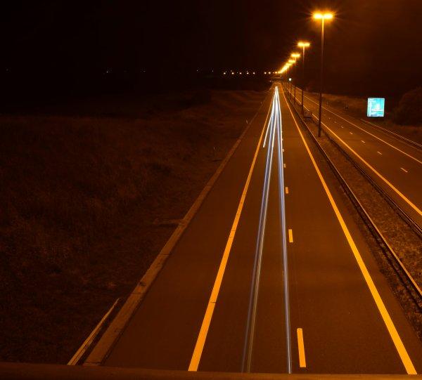Photo de nuit. (light painting)