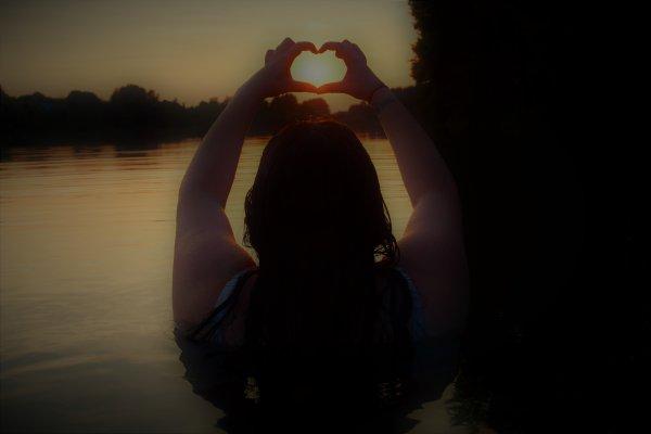 Ma femme qui me déclare son amour, dans le lac de Buttgenbacht.