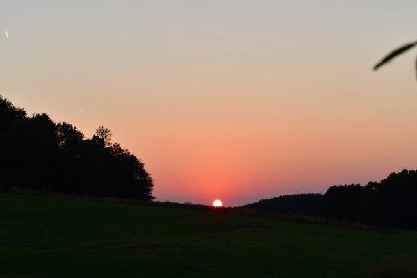 Quelques photos de couché de soleil à Buttgenbacht.