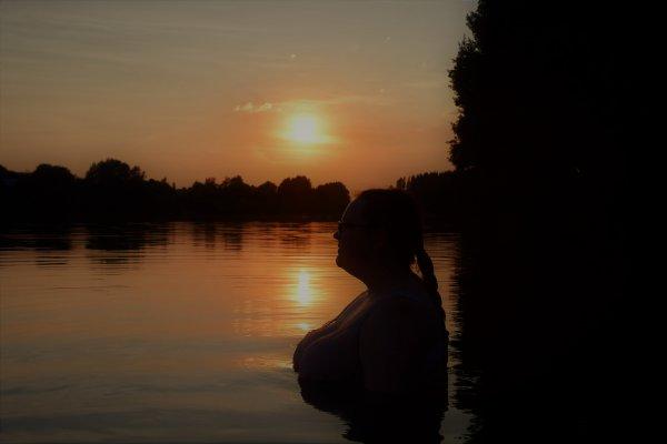 Ma femme au lac de Buttgenbach