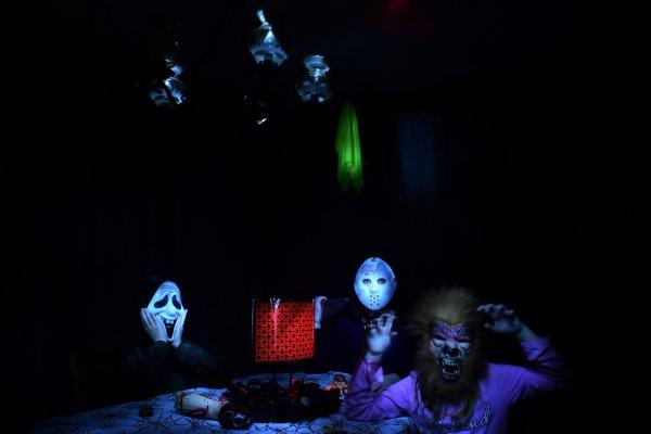 Ma table et ma famille halloween.