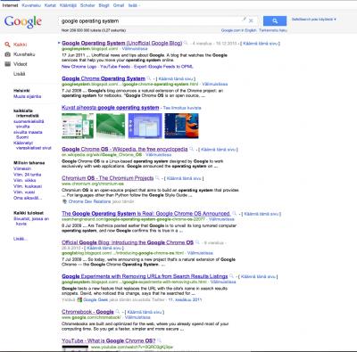 Nouveau test d'interface chez Google