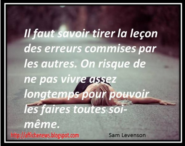 Citation 7 : Sam Levenson