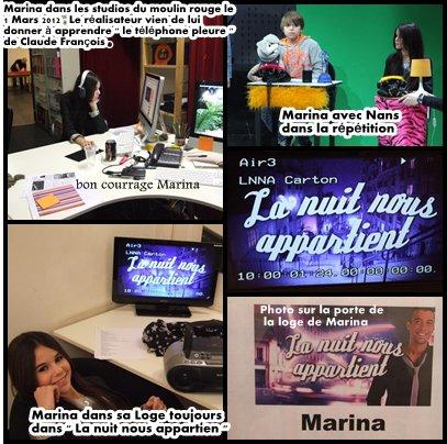 Marina est passé dur NRJ 12 le 18 Mars