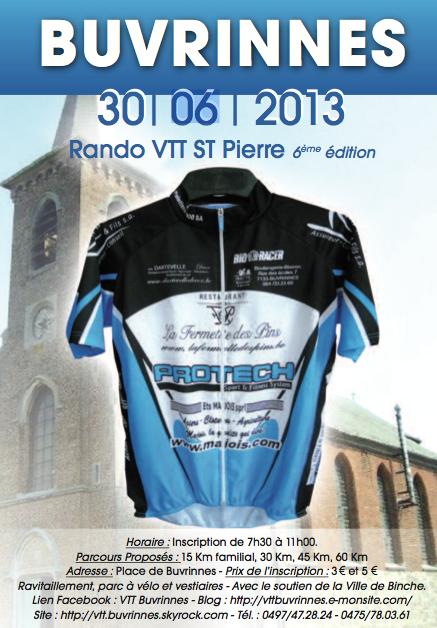 Randonnée VTT Saint-Pierre, organisée par notre club !