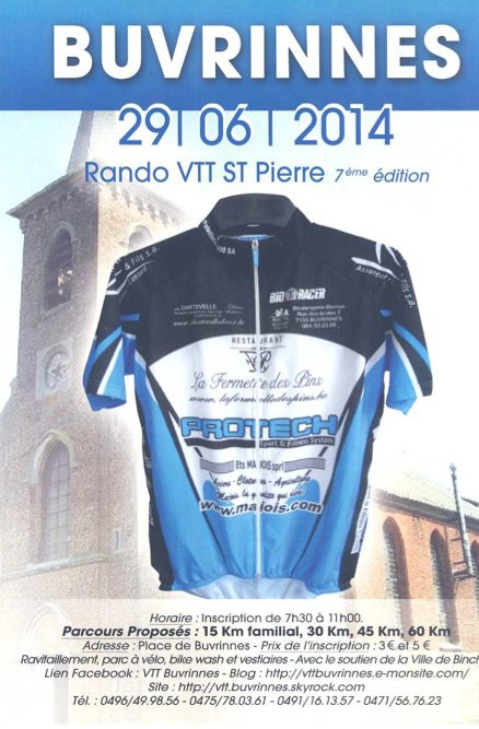 7ème Randonnée VTT Saint-Pierre de Buvrinnes