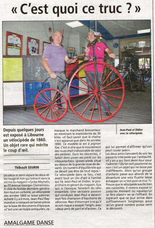Le grand BI de Jean-Paul : un ami cycliste girondin passionné de cyclisme et de brocantes