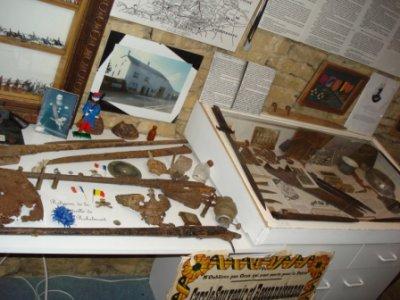 Reliques et vitrine.