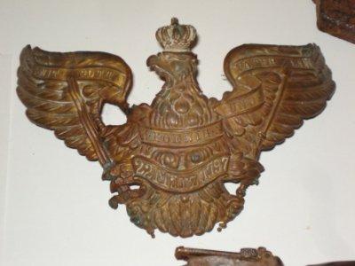 Plaque de casque ayant appartenu au 7è Grenadier Allemand...( Prussien )