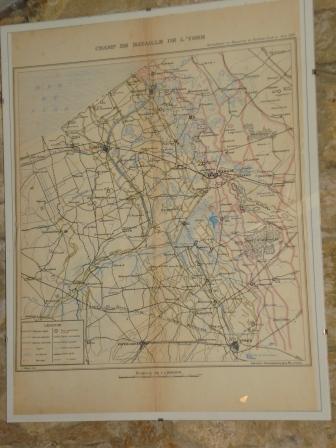 Carte du champ de Bataille de l'Yser...