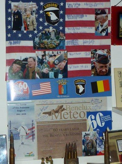60eme Anniversaire de la Bataille des Ardennes...Photos de vétérans et signatures...