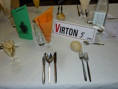 Nous étions 5 de la Section de Virton au repas.