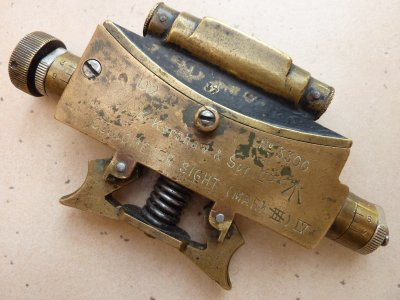 Clinomètre d'Artillerie Anglais de 1919. Merci à Manu.
