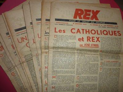 Ai reçu récemment des journeaux et livres du mouvement REX, ça fait aussi partie de l'histoire Belge, (1936). .