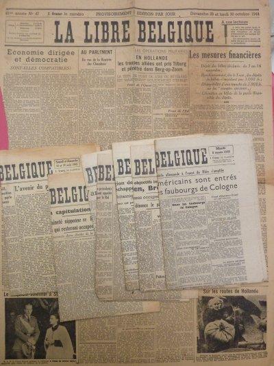 """Journeaux, """"La Libre Belgique"""". 1944-1945."""