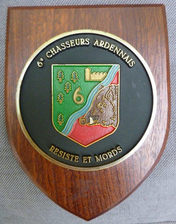 Plaquette du 6è Chasseurs Ardennais.