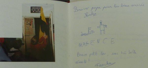 """Inauguration du Musée avec les """"gamins""""...1996."""