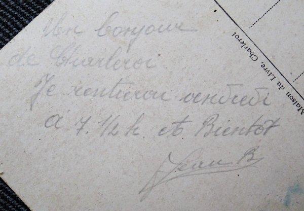 Rentrée sympa d'un Chasseur Ardennais et Résistant F.I. (Front de l'Indépendance)..