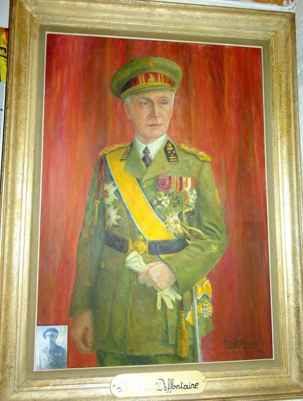 """Petits aménagements suite a une rentrée """"hors cadre"""". Portrait du Lt. Gén. Deffontaine ayant commander la Division des Ch. A. en 1938-39."""