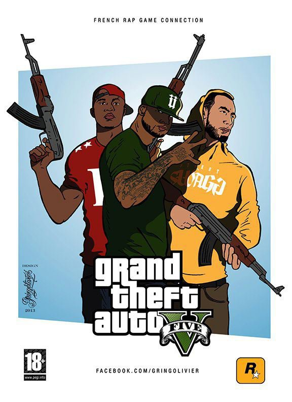 Booba vs La Fouine vs Rohff Version » GTA » : après le clash, le jeu vidéo ? http://www.clictune.com/id=94765