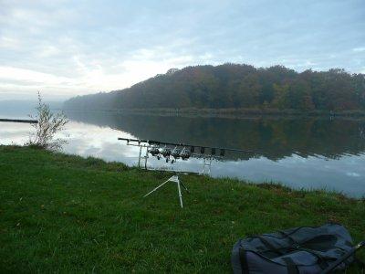 pêche sur le plan d'eau de Remering en solo