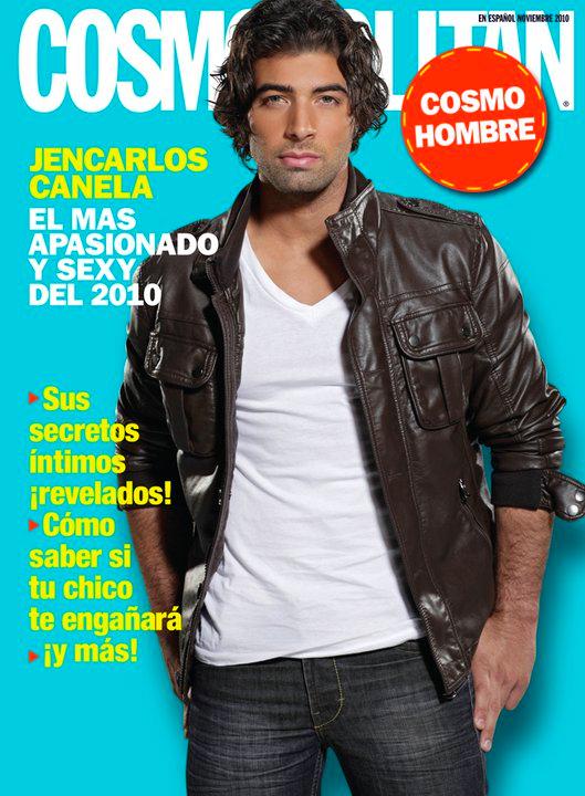 "Novembre 2010 - Jencarlos fait la une du magazine "" Cosmopolitan "" Espagne."