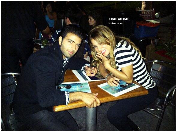 15/03/11 - Quand Jencarlos Canela et Angeline Moncayo saluent leurs followers de Twitter... @Jencarlosmusic & @AngelineMoncayo.