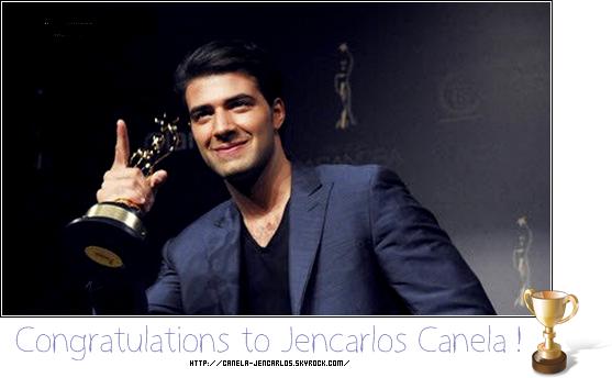 """Mars 2011 - Après avoir été le gagnant de """" El primer lo nuestro """" Jencarlos Canela a remporté une nouvelle récompense."""