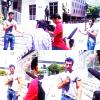 """30/07/11 - Jencarlos Canela au Mexique pour la chaîne  """" Televisa Prensa """"."""