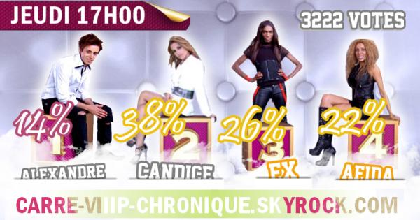 Nomination 2 : Alexandre, Candice, Afida ou Francois-Xavier ?