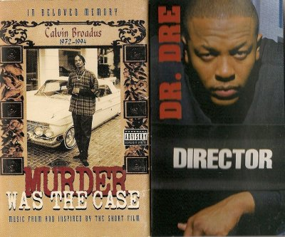 "pochette K7 audio  "" Murder was the Case ""  Snoop Dogg & Dr Dre"