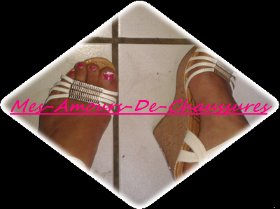 Sandales Compensées Blanche